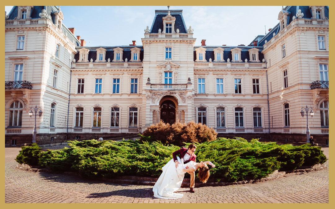 Lieu de réception dans un château pour un mariage